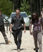 Rick y Michonne. Escena The Walking Dead